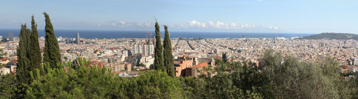 Jakob writes - Booktrip City Guide - Barcelona panorama