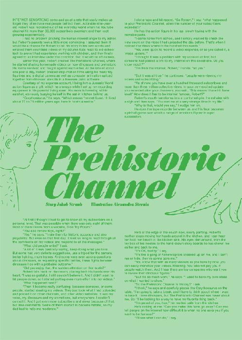 Jakob writes - The Prehistoric Channel